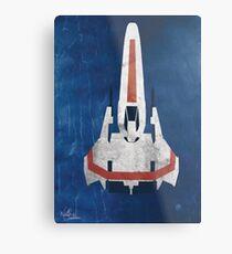 Battlestar Glactica pop art / minimal viper  Metal Print