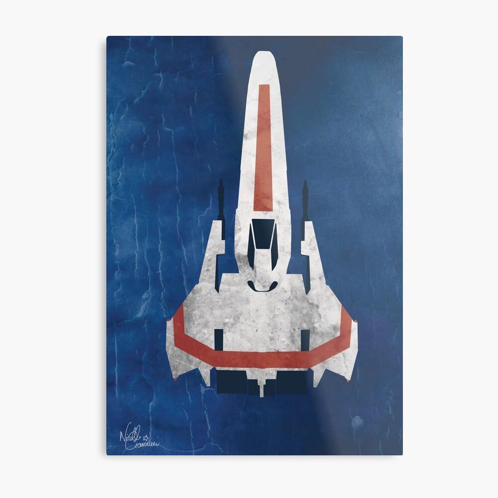 Battlestar Glactica Pop Art / Minimal Viper Metallbild