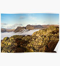 The Langdale Pikes - Cumbria Poster
