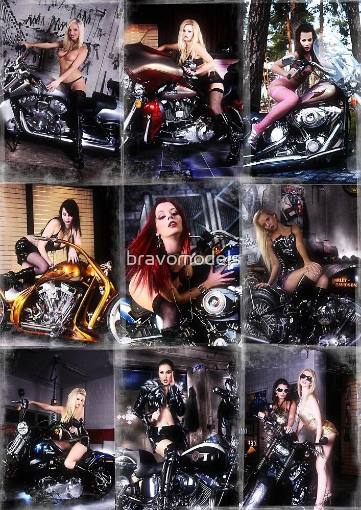 Harley Davidson girl 13 by bravomodels