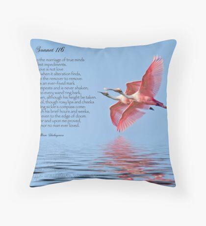Shakespeare's Sonnet 116 Throw Pillow