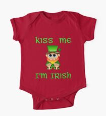 Kiss Me I'm Irish & Cute  feat Lil Blarney  One Piece - Short Sleeve