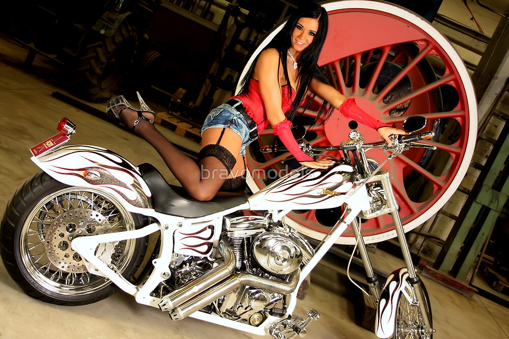 Harley Davidson girl 17 by bravomodels