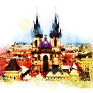 Prague Church of Our Lady before Tyn by JBJart