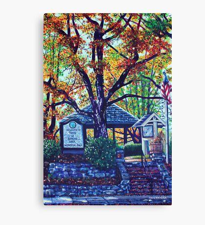 'MEMORIAL PARK' (BLOWING ROCK, NC)  Canvas Print