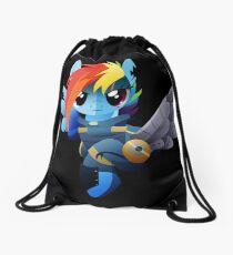 Warrior Rainbow Dash Drawstring Bag