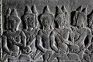 Bas-reliefs of Angkor Wat, Cambodia by Michael Treloar