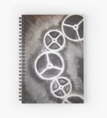 Charcoal Gears Spiral Notebook