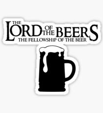 Lord of the Beers - Fellowship of the Beer Sticker