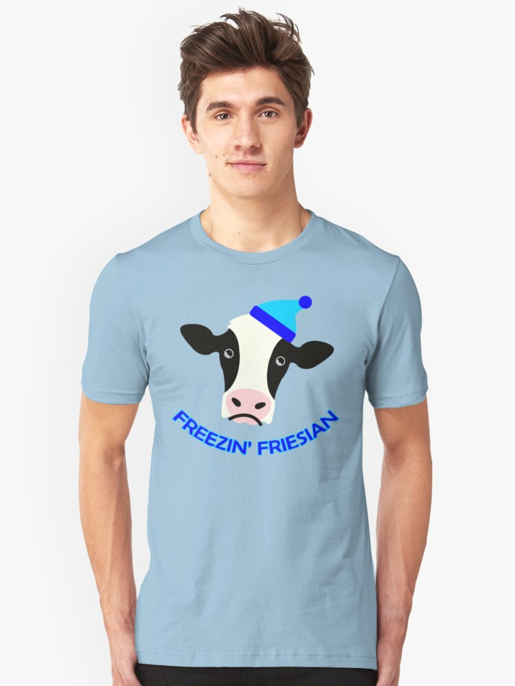 Freezin' Friesian Unisex T-Shirt Front