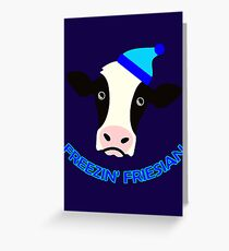 Freezin' Friesian Greeting Card
