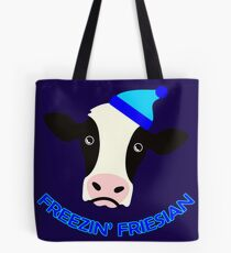 Freezin' Friesian Tote Bag