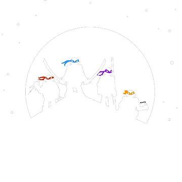 TMNT Christmas by lightwearer