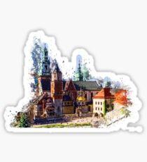 Wawel Castle Cracow Sticker