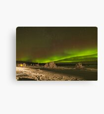 Aurora with Foreground Canvas Print