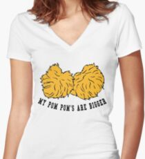Cheerleader POM POMs Women's Fitted V-Neck T-Shirt
