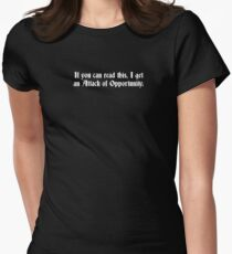Attack of Opportunity Women's Fitted T-Shirt