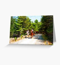 Horseback Riding in the Park Greeting Card