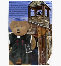 † ❤ † PASTOR BEARY WITH  BIBLICAL SCRIPTURE † ❤ † Poster