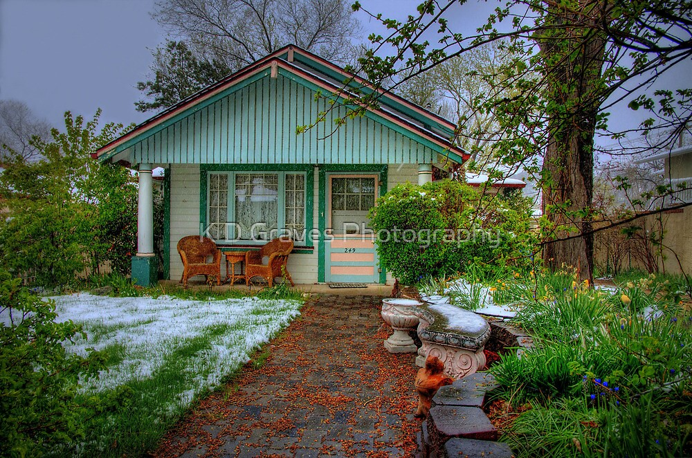 Cottage Garden In The Spring  by K D Graves Photography