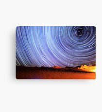 Incredible Galaxy Star Trails Over Death Valley Canvas Print