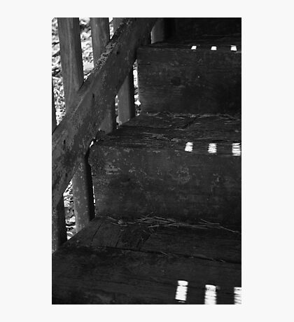 Wooden Stairs Photographic Print