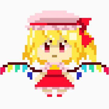 Flandre Scarlet Pixels Sticker by Astrotoast
