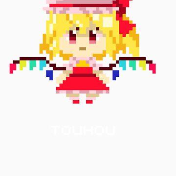 Flandre Scarlet Pixels Tee by Astrotoast