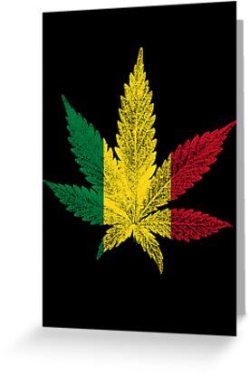 Rastafari cannabis leaf greeting cards by bela manson redbubble rastafari cannabis leaf by bela manson m4hsunfo