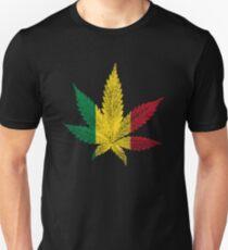 Rastafari Cannabis Leaf Unisex T-Shirt