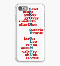 Heroes of Olympus Characters #2 iPhone Case/Skin