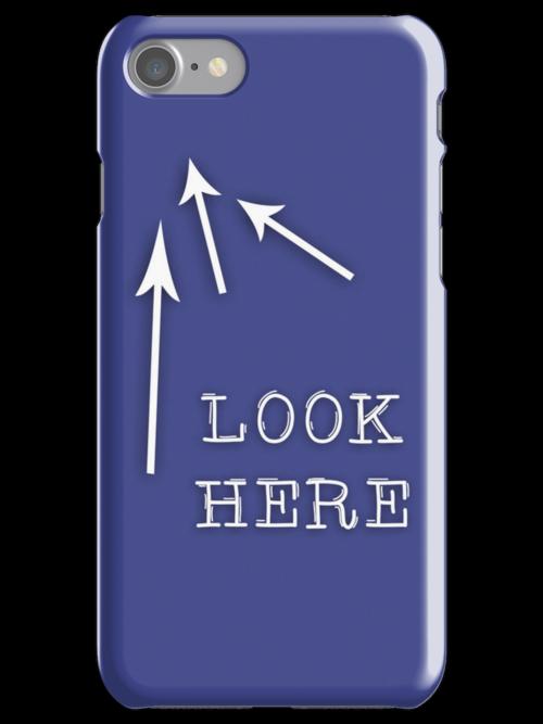 Look here iPhone Case by iLikeiLike