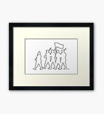Marching Ants Framed Print