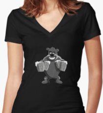 Beer? Bear? Both Women's Fitted V-Neck T-Shirt