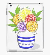 Greek Urn Vase Of Summer Flowers iPad Case/Skin