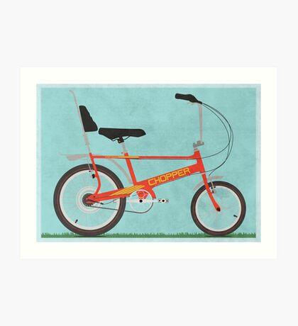 Chopper Bike Art Print