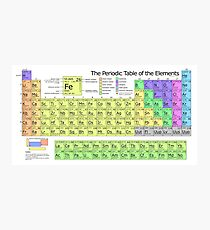 The Periodic Table of Elements Photographic Print