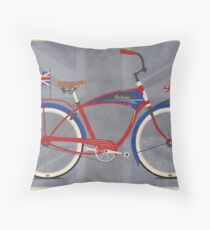British Bicycle Throw Pillow