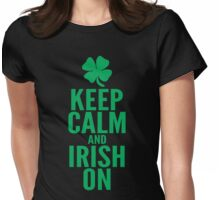 Keep Calm and Irish On Womens Fitted T-Shirt