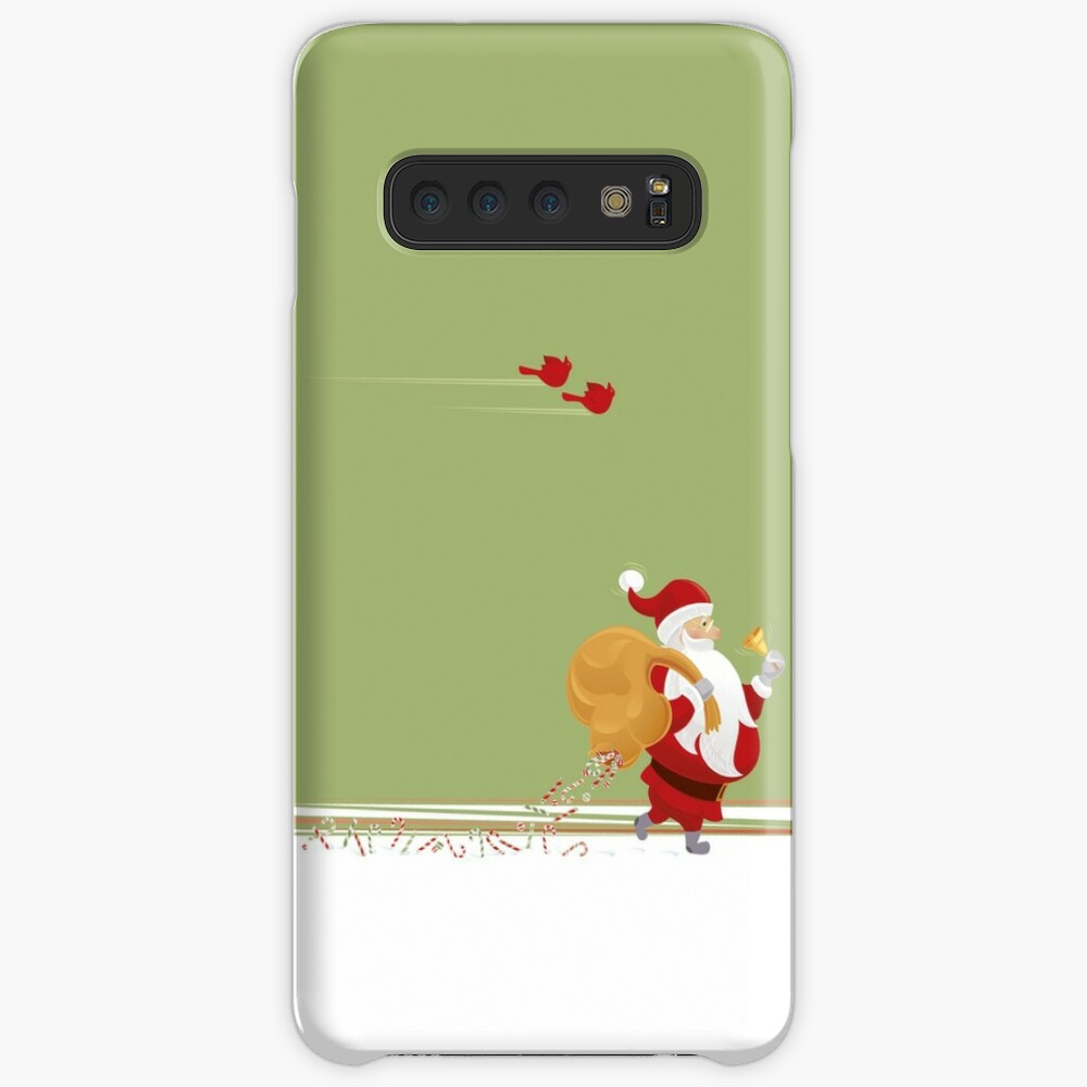 Santa and small red birds Case & Skin for Samsung Galaxy