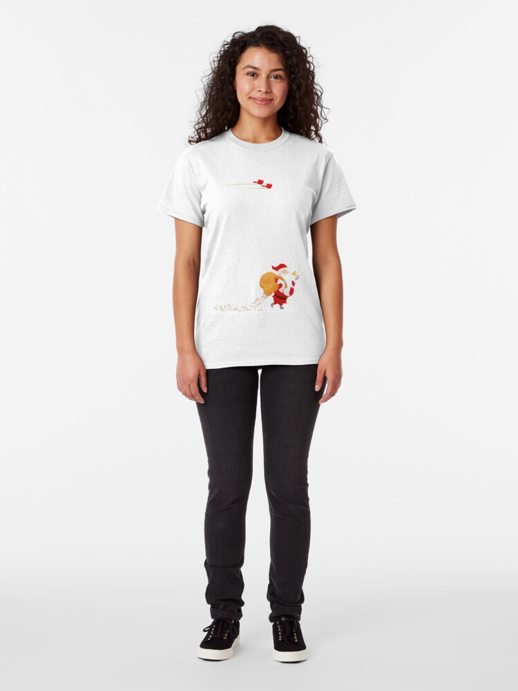 Alternate view of Santa and small red birds Classic T-Shirt