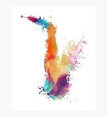 Saxophone colored Photographic Print