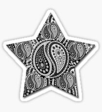 Paisley Yin Yang Star Sticker