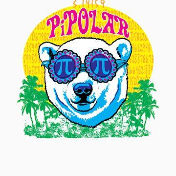 Funny Pi Polar Bear by MudgeStudios