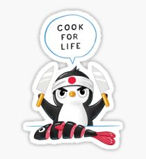 Penguin Chef Sticker