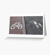 Walk and bike path Sign Greeting Card