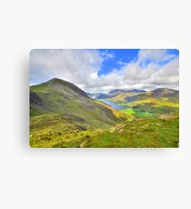 The Lake District: Overlooking Buttermere Canvas Print