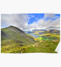 The Lake District: Overlooking Buttermere Poster