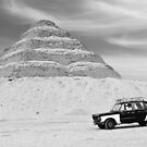Taxi Pyramid Egypt by Heather Buckley