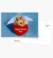 Sweetest Day Hamster Postcards